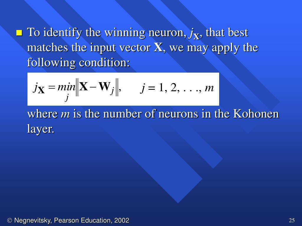 To identify the winning neuron,