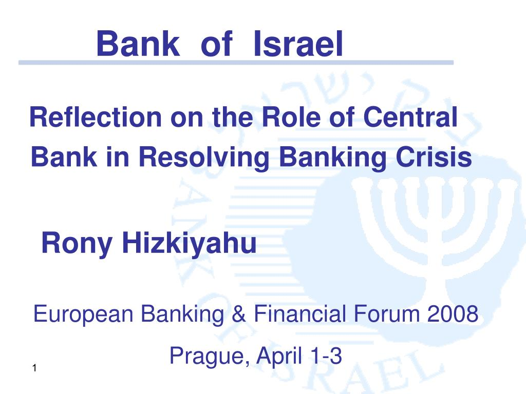 reflection on the role of central bank in resolving banking crisis l.