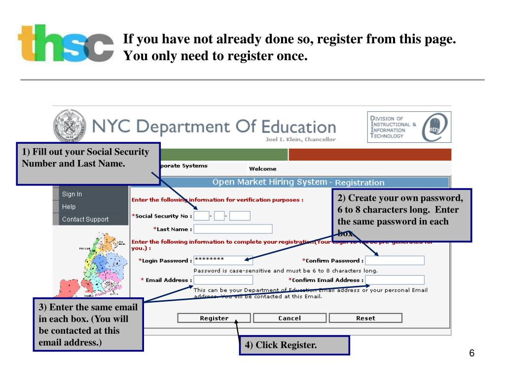 If you have not already done so, register from this page. You only need to register once.