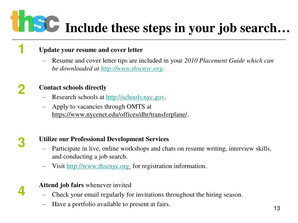 Include these steps in your job search…