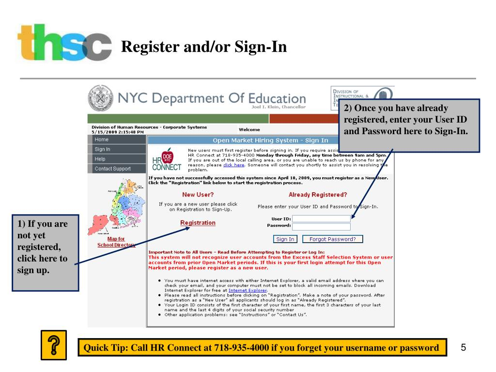 Register and/or Sign-In