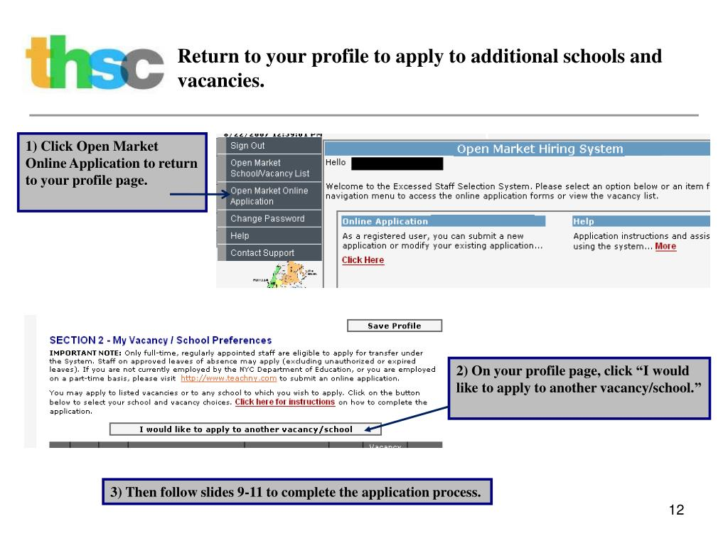 Return to your profile to apply to additional schools and vacancies.