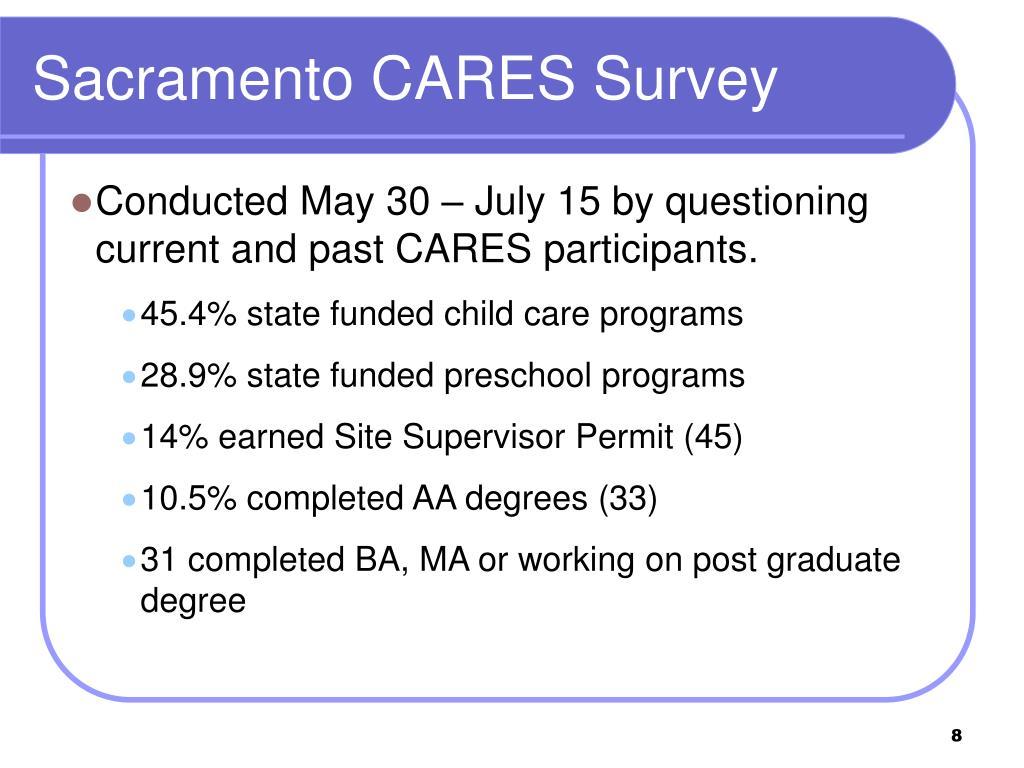 Sacramento CARES Survey