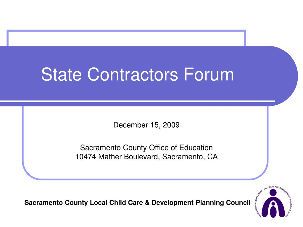 State Contractors Forum