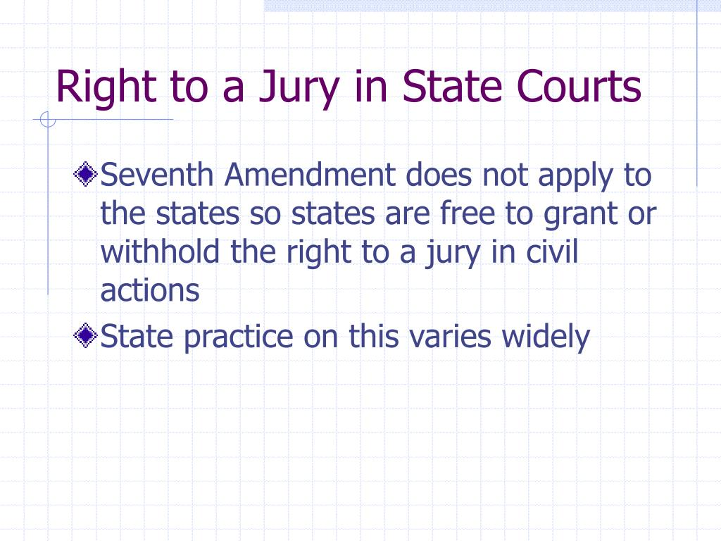 Right to a Jury in State Courts