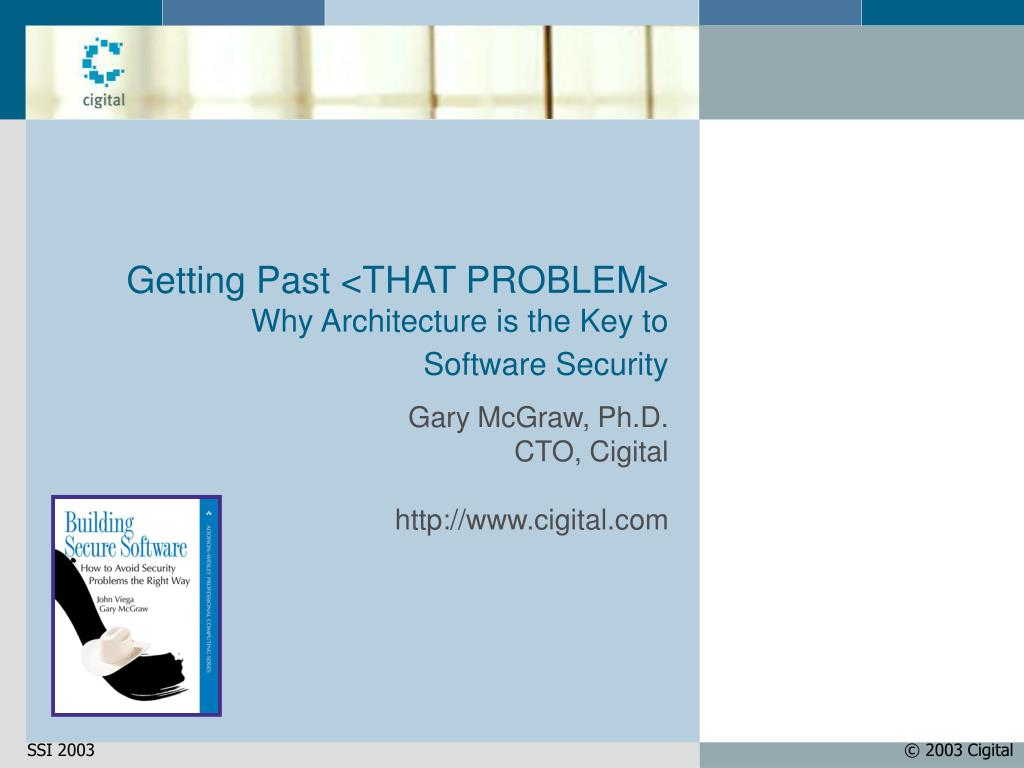 getting past that problem why architecture is the key to software security l.