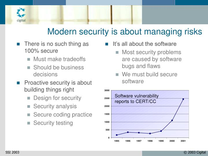 Modern security is about managing risks