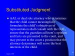 substituted judgment