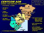 centcom aor diverse rich heritage challenged