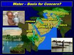 water basis for concern