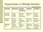 organizations as multiple realities