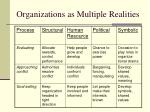 organizations as multiple realities7