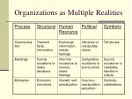 organizations as multiple realities8