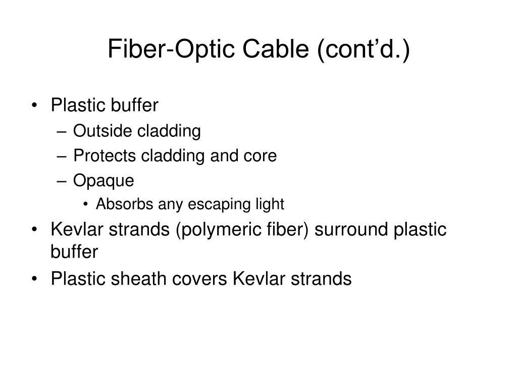 Fiber-Optic Cable (cont'd.)