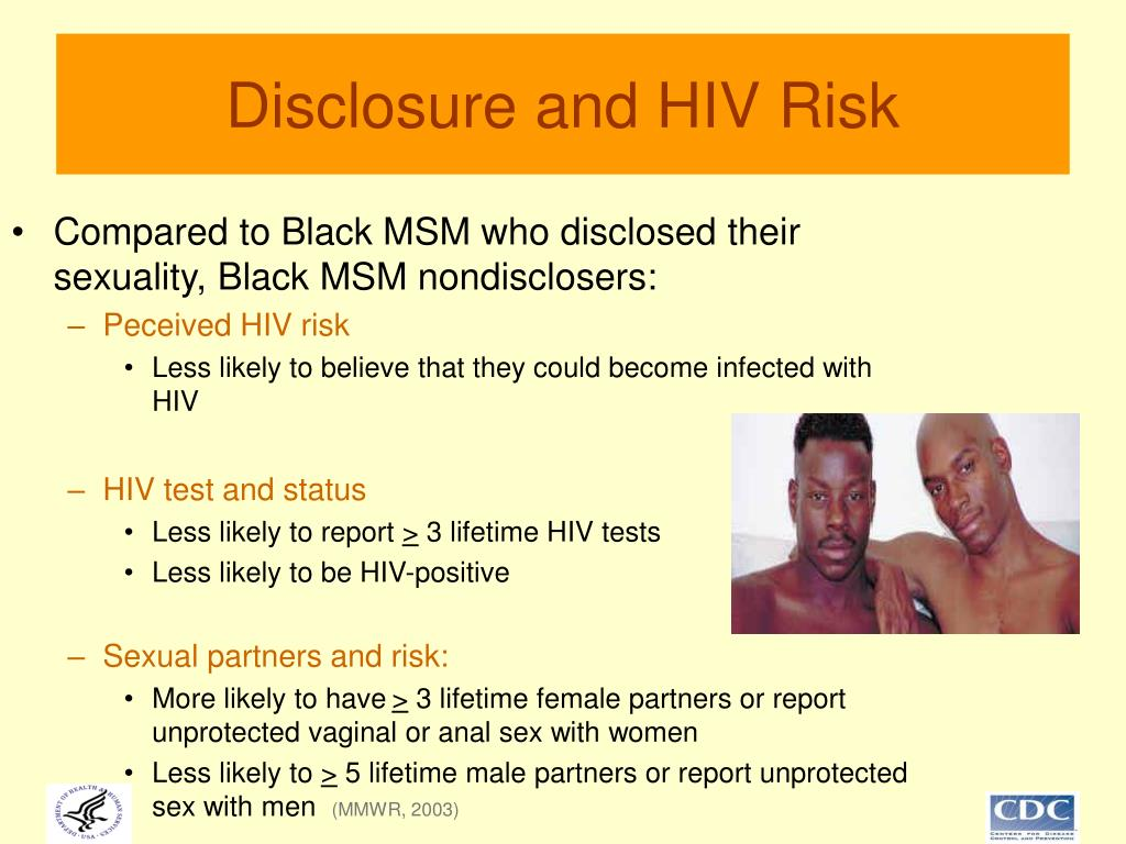 Disclosure and HIV Risk