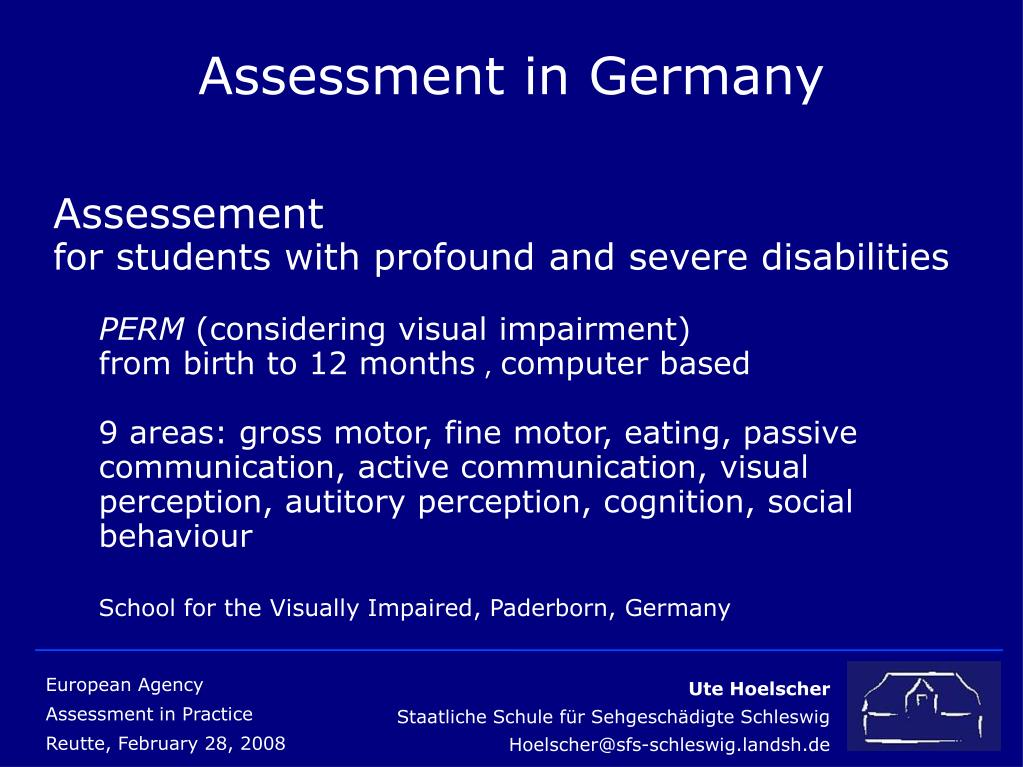 Assessment in Germany