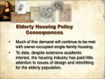 elderly housing policy consequences26