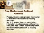 free markets and political choices