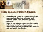 policy domain of elderly housing22