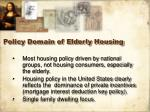 policy domain of elderly housing23