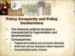 policy incapacity and policy incoherence19