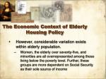 the economic context of elderly housing policy13