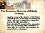 the economic context of elderly housing