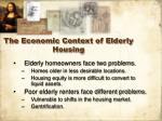 the economic context of elderly housing15