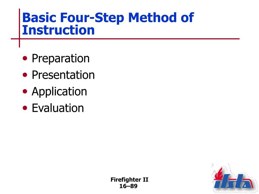 Basic Four-Step Method of Instruction