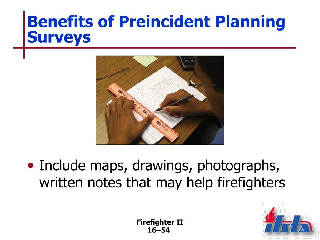 Benefits of Preincident Planning Surveys