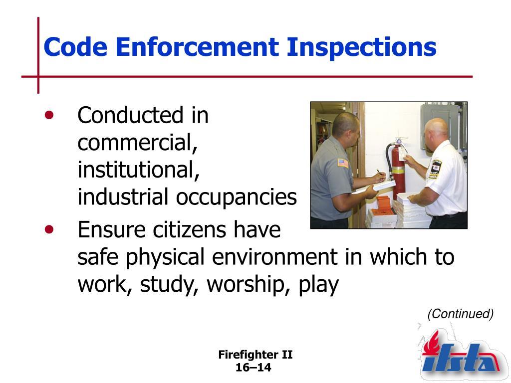 Code Enforcement Inspections