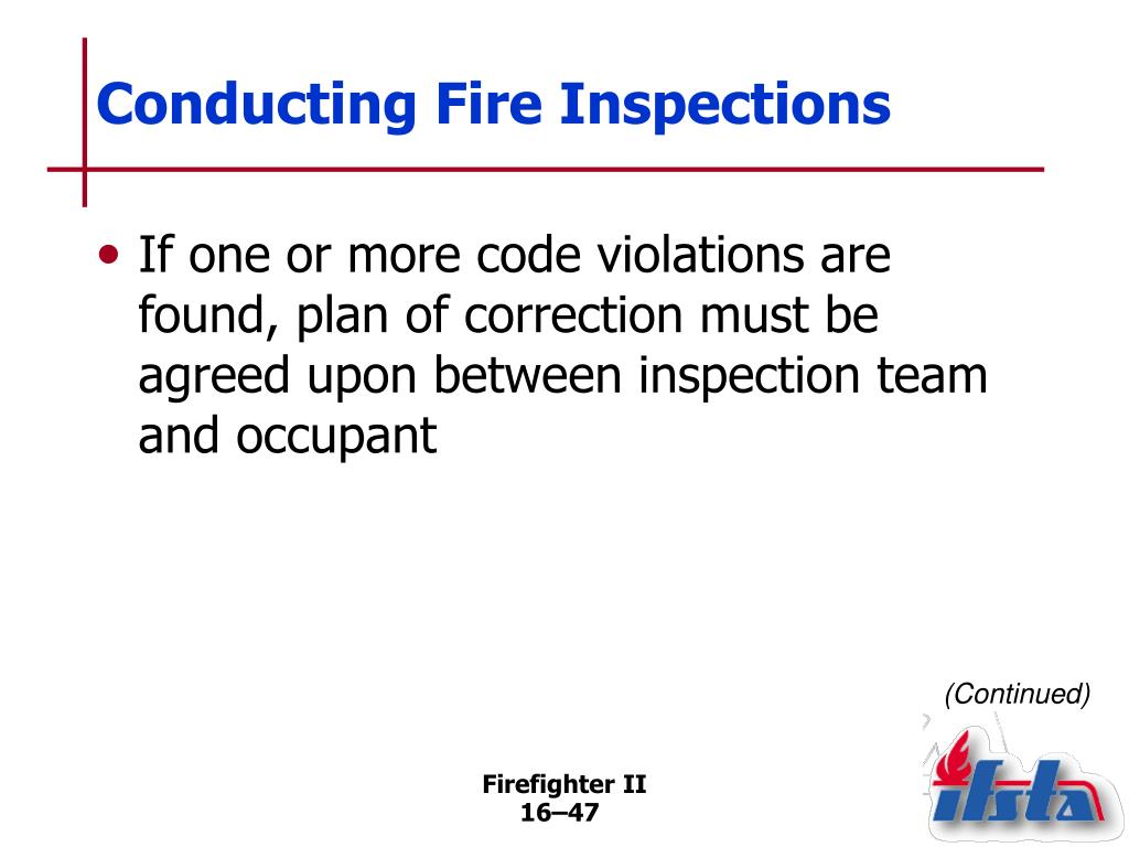 Conducting Fire Inspections