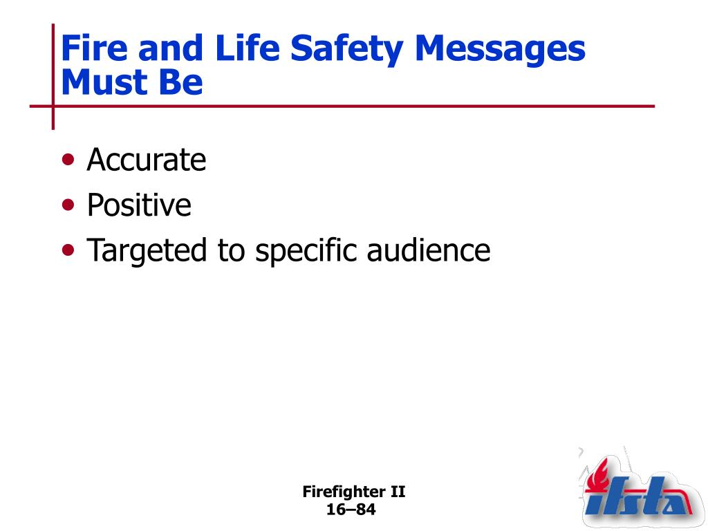 Fire and Life Safety Messages Must Be