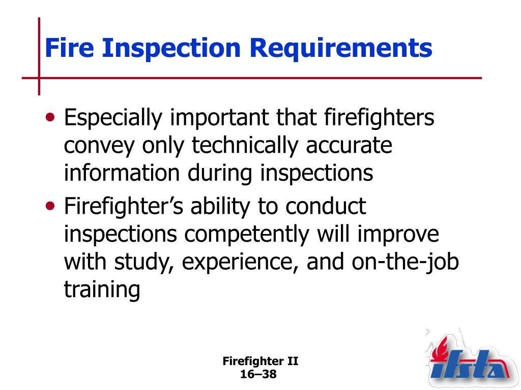 Fire Inspection Requirements