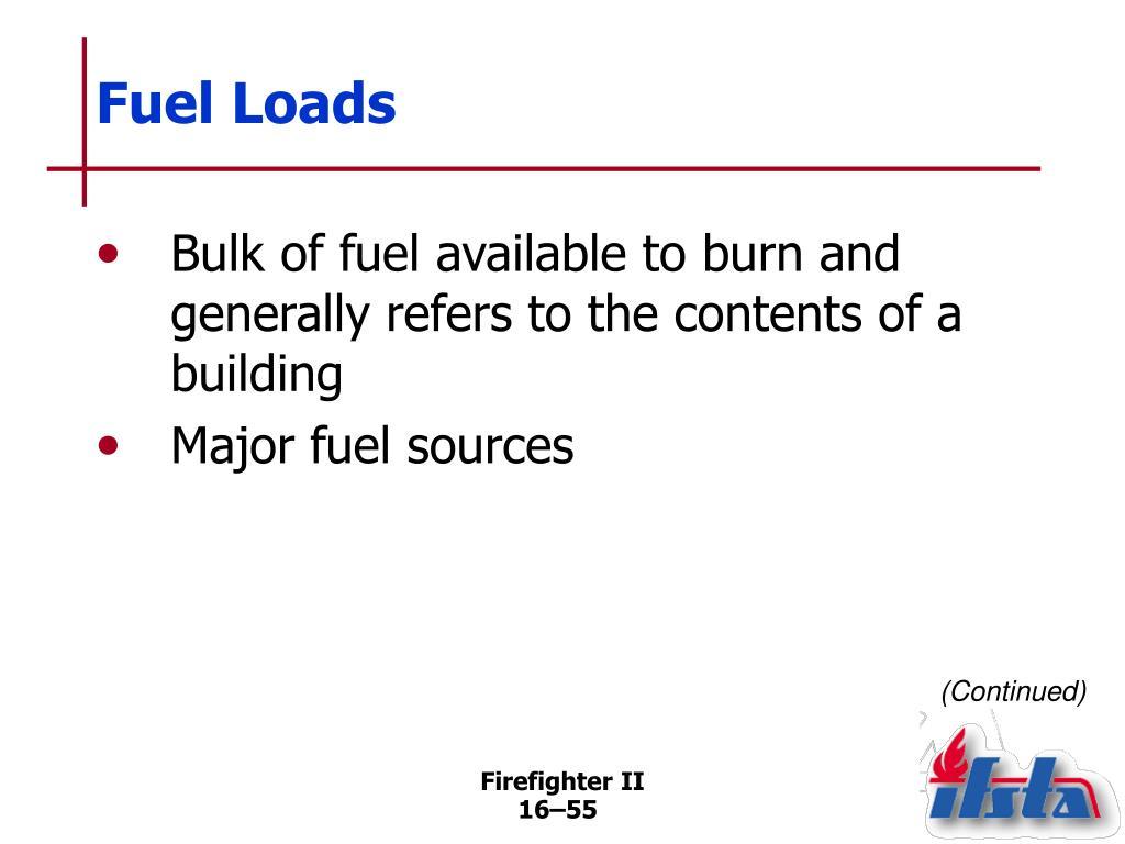 Fuel Loads
