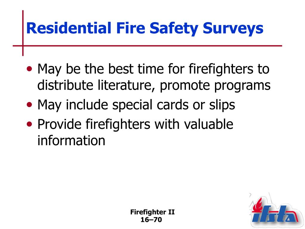 Residential Fire Safety Surveys