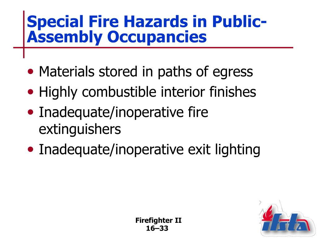 Special Fire Hazards in Public-Assembly Occupancies