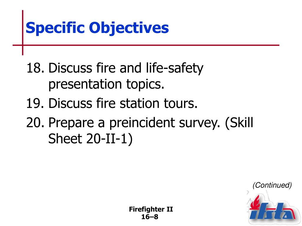 Specific Objectives