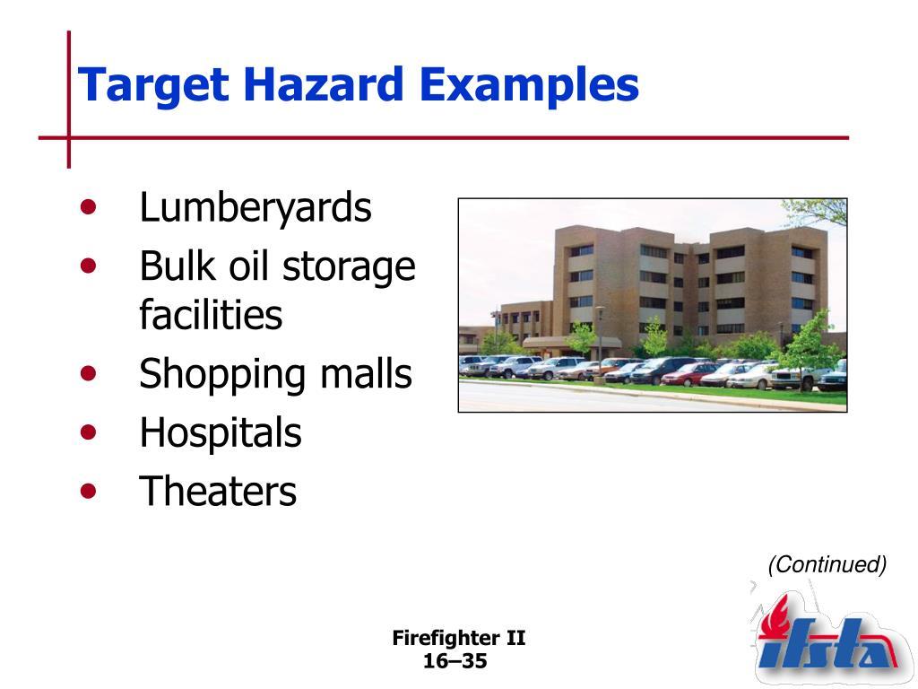 Target Hazard Examples