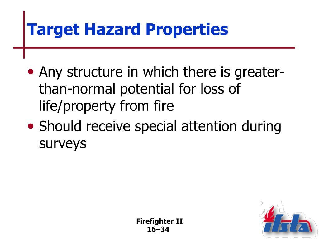 Target Hazard Properties
