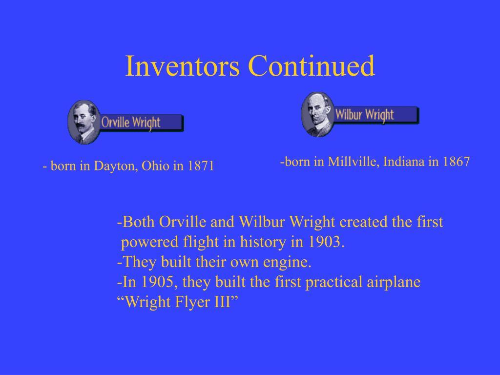 Inventors Continued