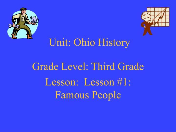 Unit ohio history