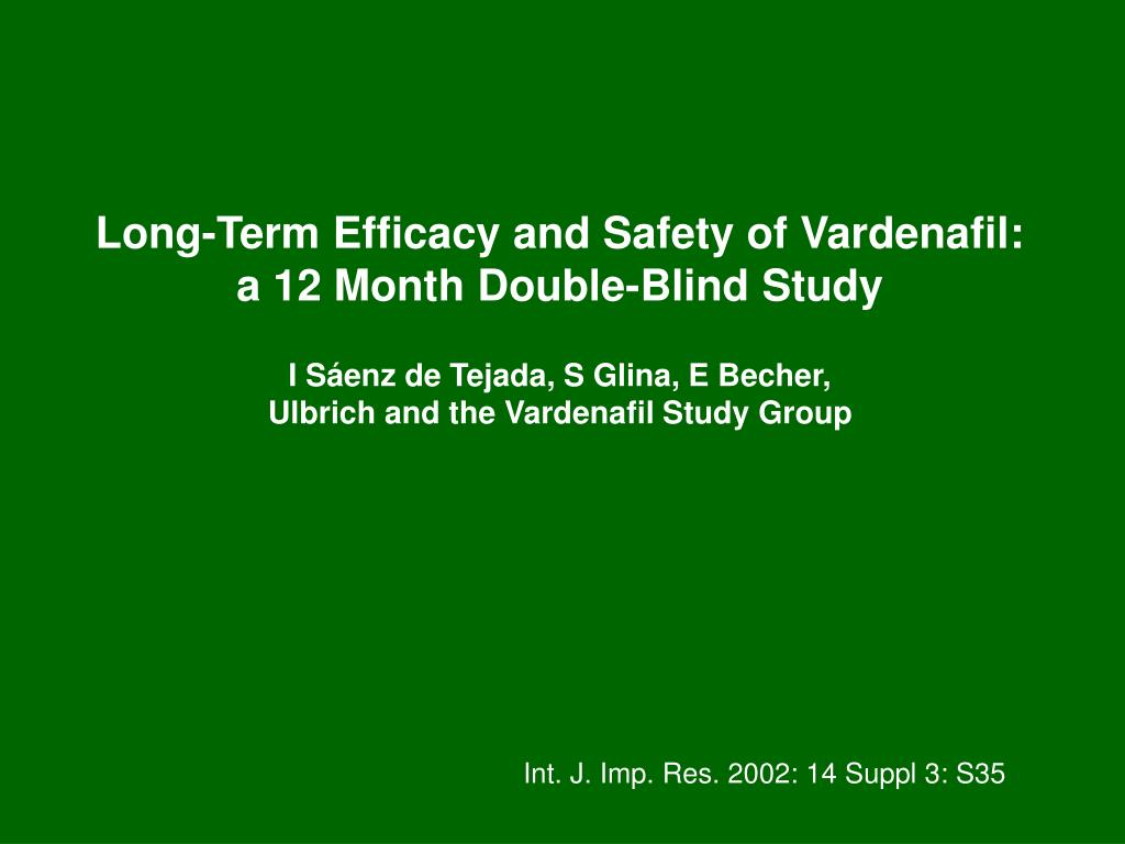 Long-Term Efficacy and Safety of Vardenafil: