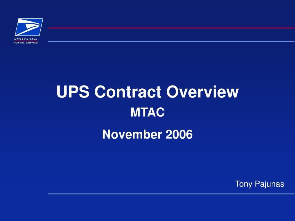 ups contract overview l.