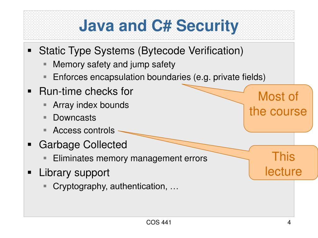Java and C# Security