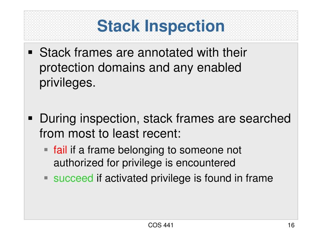 Stack Inspection