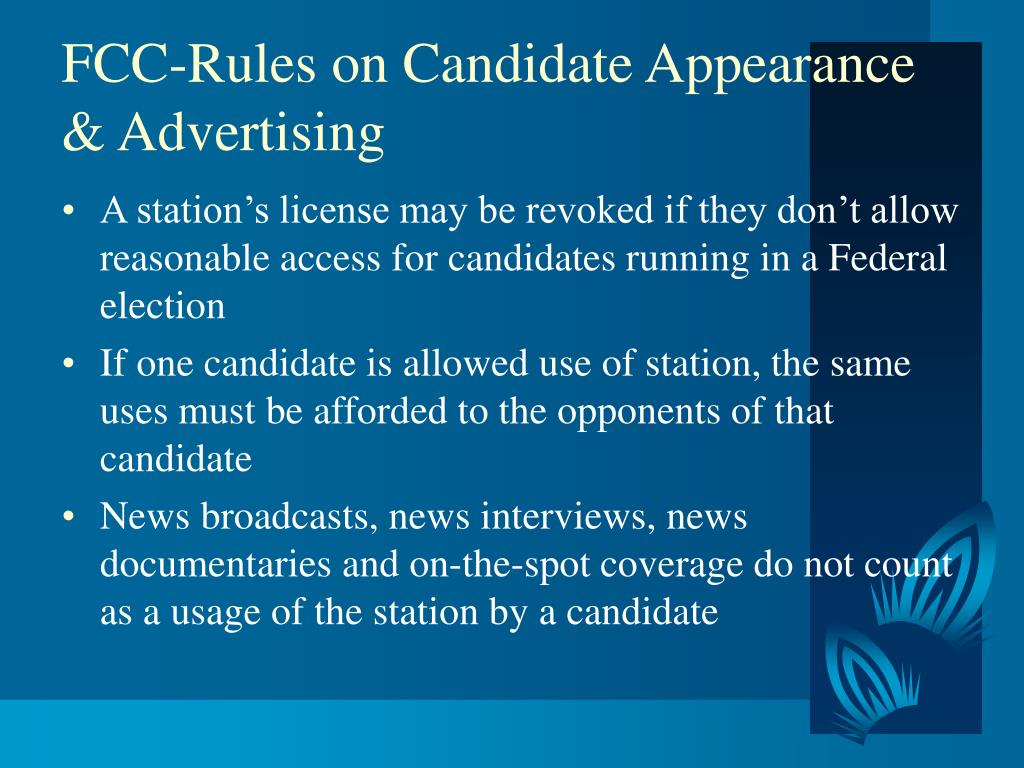 FCC-Rules on Candidate Appearance & Advertising