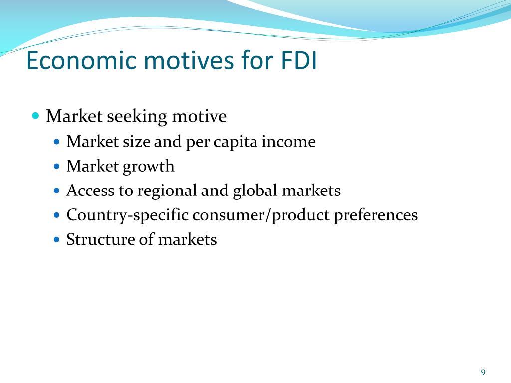 Economic motives for FDI