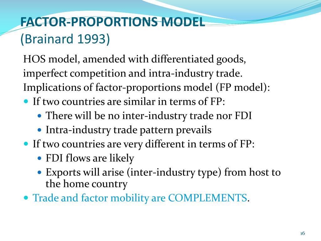 FACTOR-PROPORTIONS MODEL