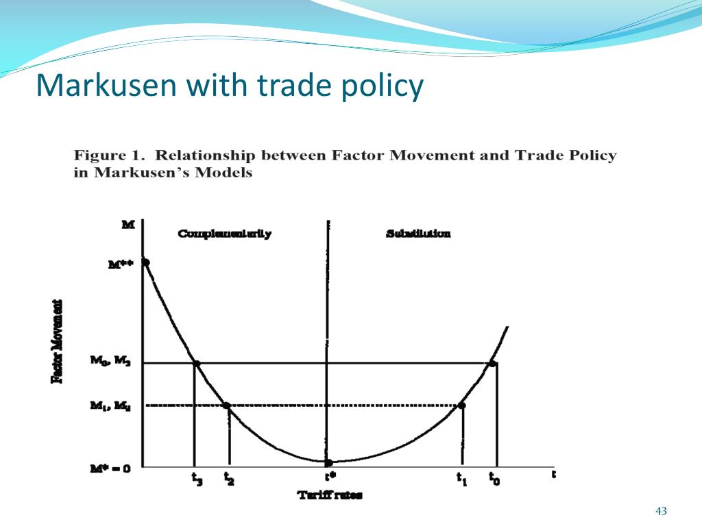 Markusen with trade policy